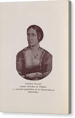 Juana Asurduy De Padilla Canvas Print by British Library