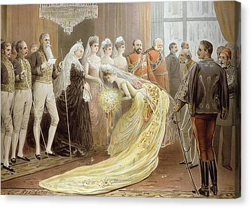 Jubilee Drawing Room, From The Illustrated London News, 21st May 1887 Litho Canvas Print by Henry Stephen Ludlow