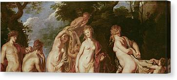 Judgement Of Paris Canvas Print by Peter Paul Rubens