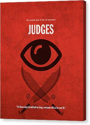 Judges Books Of The Bible Series Old Testament Minimal Poster Art Number 7 Canvas Print by Design Turnpike