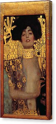 Judith Canvas Print by Gustive Klimt
