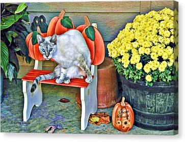 Judy Blue Eyes Canvas Print by Kenny Francis