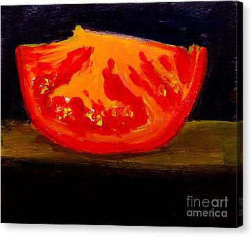 Juicy Tomato Modern Art Canvas Print by Patricia Awapara