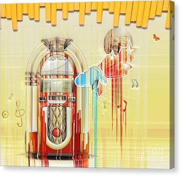 Juke Box Canvas Print by Liane Wright