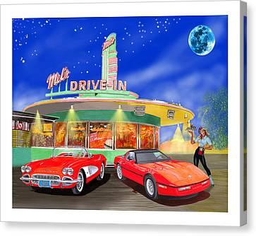 Julies Corvettes Canvas Print by Jack Pumphrey