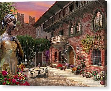 Juliette's Verona Canvas Print by Dominic Davison