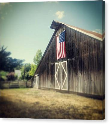 July Barn Canvas Print by Melissa Broughton