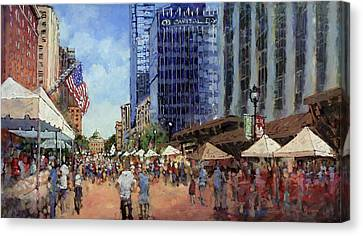 July Fourth In The Capital Canvas Print by Dan Nelson