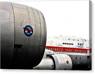 Jumbo Jet Canvas Print by Benjamin Yeager