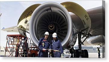 Jumbo Jet Engine Power Canvas Print by Christian Lagereek