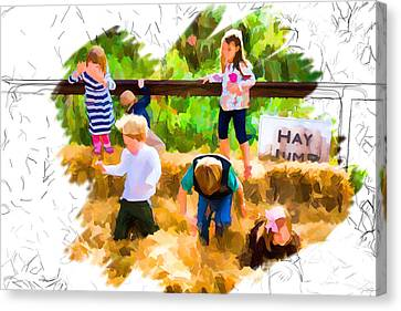 Jumping For Joy Canvas Print by John Haldane