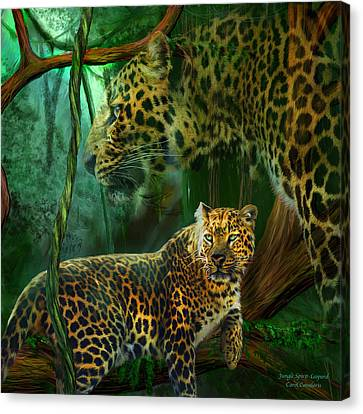 Jungle Spirit - Leopard Canvas Print by Carol Cavalaris