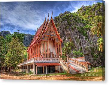 Jungle Temple V2 Canvas Print by Adrian Evans