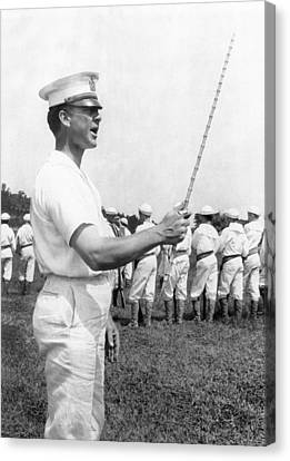 Junior Naval Reserve Training Canvas Print by Underwood Archives