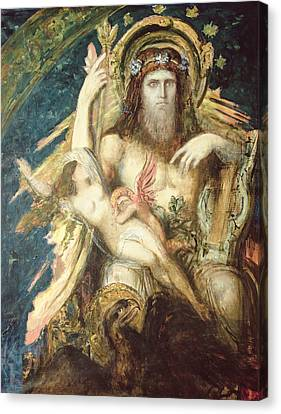 Jupiter And Semele  Canvas Print by Gustave Moreau