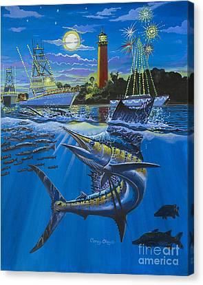 Jupiter Boat Parade Canvas Print by Carey Chen