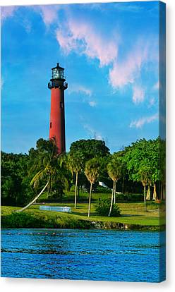 Jupiter Florida Lighthouse Canvas Print by Laura Fasulo