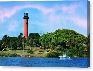 Jupiter Lighthouse Canvas Print by Laura Fasulo