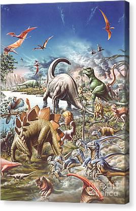 Jurassic Kingdom Canvas Print by Adrian Chesterman