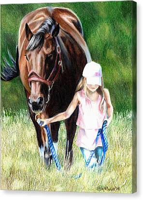 Just A Girl And Her Horse Canvas Print by Shana Rowe Jackson