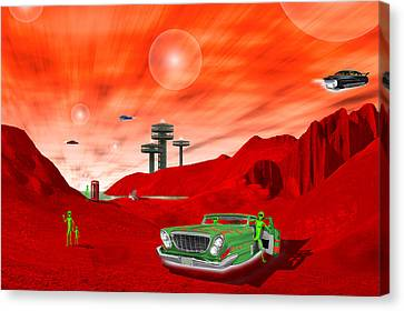 Just Another Day On The Red Planet 2 Canvas Print by Mike McGlothlen