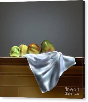 Just Apples And Mangos  Canvas Print by Reggie Duffie