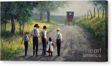 Just Around The Bend Canvas Print by Laurie Hein