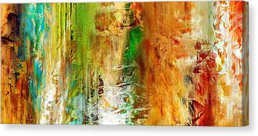 Just Being - Abstract Art Canvas Print by Jaison Cianelli