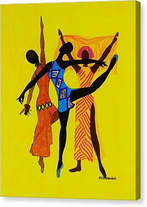 Just Dance Canvas Print by Celeste Manning