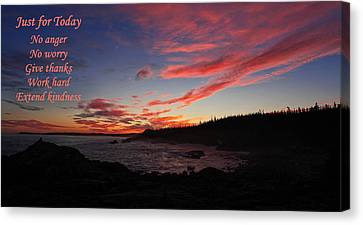 Just For Today 9 Canvas Print by Bill Caldwell -        ABeautifulSky Photography