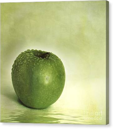 Just Green Canvas Print by Priska Wettstein