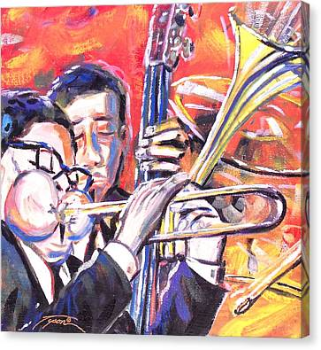 Just Jazz One Canvas Print by Jonathan Tyson