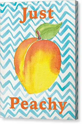 Just Peachy Painting Canvas Print by Christy Beckwith