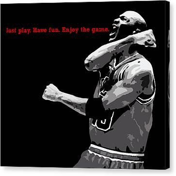 Just Play Canvas Print by Mike Maher
