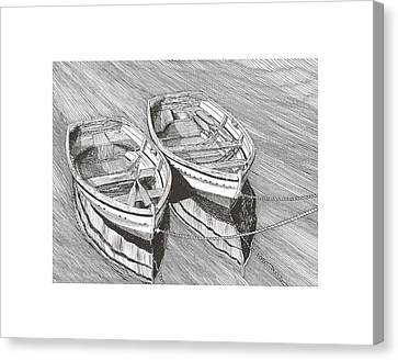 Two Dinghy Friends Just The Two Of Us Canvas Print by Jack Pumphrey