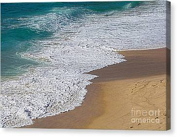 Just Waves And Sand By Kaye Menner Canvas Print by Kaye Menner