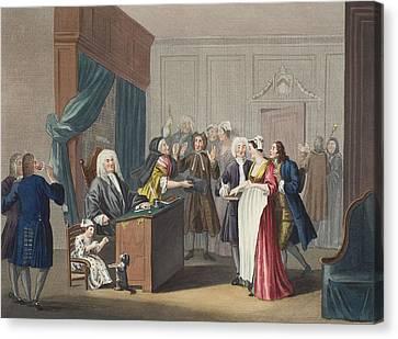 Justice Triumphs, Illustration Canvas Print by William Hogarth