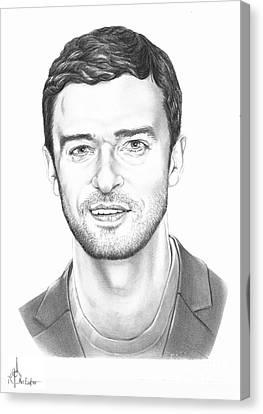 Justin Timberlake Canvas Print by Murphy Elliott
