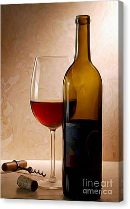 Justin Wine Painting Canvas Print by Jon Neidert
