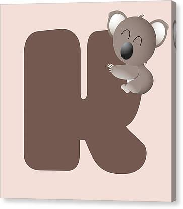 K Canvas Print by Gina Dsgn
