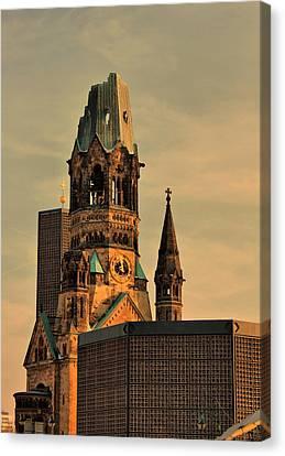 Kaiser Wilhelm Memorial Church In Berlin Canvas Print by Iveta S