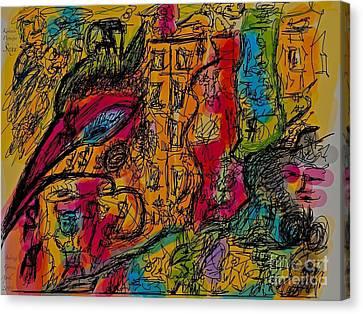 Kakadu  Dream And Desire.  Money Money Money Money??  Nonconformist Art . The Young Rebels Canvas Print by  Andrzej Goszcz