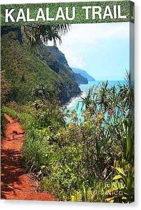 Kalalau Trail On Kauai Canvas Print by Joseph J Stevens