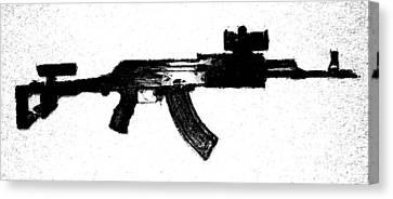 Kalashnikov Canvas Print by Michael Fascitelli