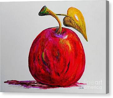 Kaleidoscope Apple -- Or -- Apple For The Teacher  Canvas Print by Eloise Schneider