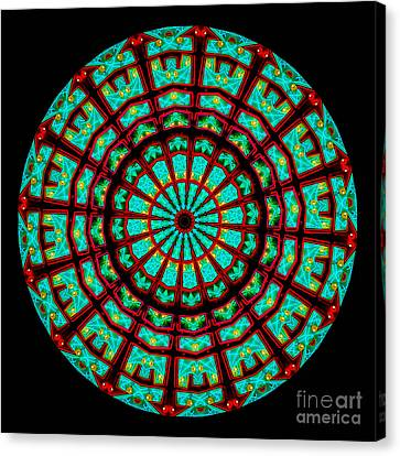 Kaleidoscope Of A Neon Sign Canvas Print by Amy Cicconi