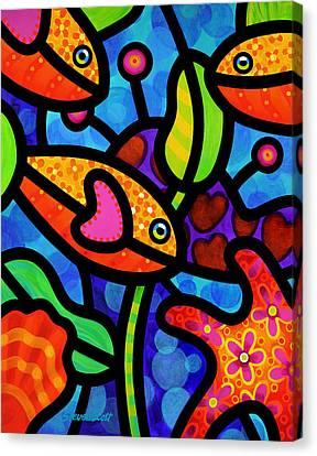 Kaleidoscope Reef Canvas Print by Steven Scott