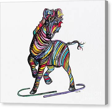 Kaleidoscope Zebra -- Baby Strut Your Stuff  Canvas Print by Eloise Schneider