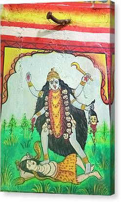 Kali, Shree Laxmi Narihan Ji Hindu Canvas Print by Inger Hogstrom