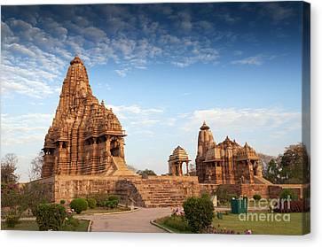 Kandariya Mahadeva Temple Khajuraho India Unesco World Heritage Site Canvas Print by Rudra Narayan  Mitra